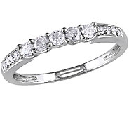 Diamond Wedding Band Ring, 14K White Gold, by Affinity - J340825