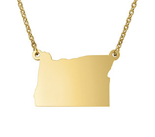 State Pendant Necklace, Sterling & 14K Gold