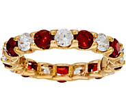 Grace Kelly Collection Simulated Ruby & Diamond Eternity Ring - J346325