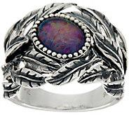 Or Paz Sterling Silver Australian Opal Triplet Leaf Ring - J348625