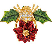Joan Rivers Poinsettia Bee Pin - J349125