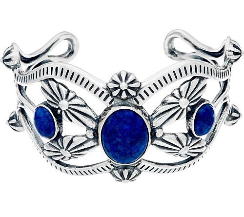As Is Sterling & Denim Lapis Cuff by AmericanWest