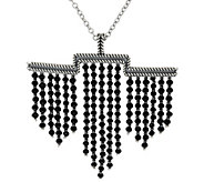 As Is American West 48.0 cttw. Black Spinel Sterl. Necklace - J356525