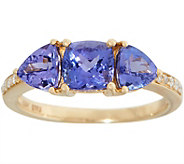 Tanzanite and Diamond Three Stone Ring, 2.00 cttw, 14K - J356825