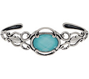 Carolyn Pollack Country Couture Sterling Silver Gemstone Doublet Cuff - J357025