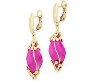 Italian Gold Color Dangle Earrings, 14K Gold, 6.9g - J357225