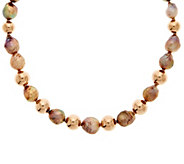 As Is Honora 10.5mm-13.5mm Ming Cultured Pearl & Bronze 20 Necklace - J358525