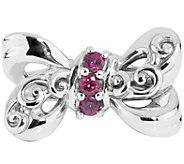 Carolyn Pollack Rhodolite Garnet Bow Ring - J374925