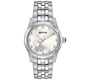 Bulova Womens Diamond Stainless Steel Watch - J375125