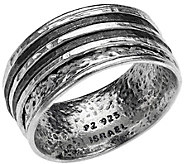 Or Paz Sterling Silver Mens Two-Tone Spinner Ring - J384825