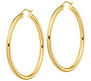 14K Yellow Gold 2 Polished Round Hoop Earrings - J385725