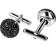 Mistero by Albert M Sterling Silver Black Spinel Cuff Links - J386625