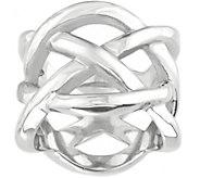Steel by Design Woven Openwork Ring - J388325