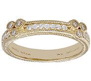 Judith Ripka 14K 1/5 cttw Diamond Cluster BandRing - J390025