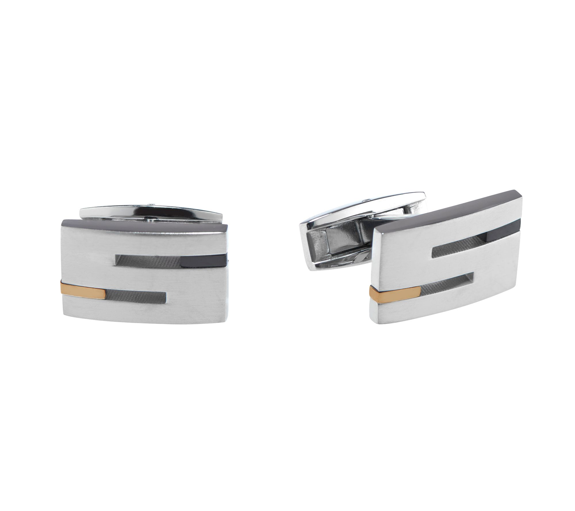 Titanium Cufflinks Carbon Fiber Cuff Links