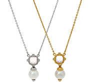 Judith Ripka Choice of Rose Quartz Cultured Pearl Necklace - J62325