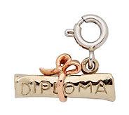 14K Yellow Gold 3-D Diploma Charm - J108026