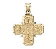 14K Yellow Gold  Four-Way Pendant - J108226