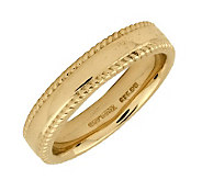 Simply Stacks Sterling 18K Yellow Gold-Pltd 4.25mm Ribbed Ring - J298126