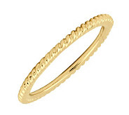 Simply Stacks 18K Yellow Gold-Plated Sterling Ring-Rope Design - J298826