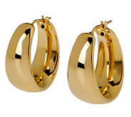 Veronese 18K Clad High Polished Graduated HoopEarrings - J299026