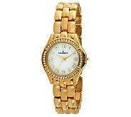 Peugeot Womens Swarovski Crystal Bezel Bracelet Watch - J313726
