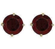 Round Gemstone Stud Earrings, 14K Gold - J314026