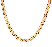 14K Gold 20 Polished Woven Wheat Necklace, 26.0g - J330626