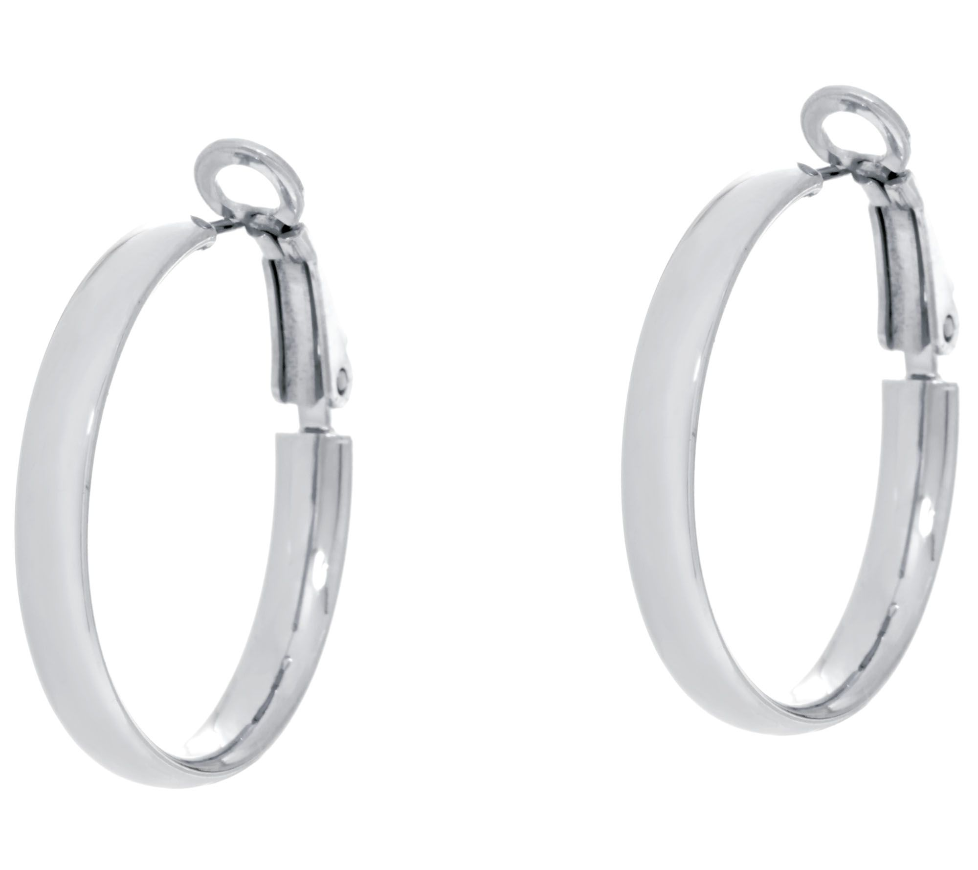 silver hoop voare earrings jewelry double products