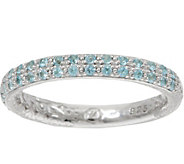 DeLatori Sterling Silver Pave Gemstone Band Ring - J350426