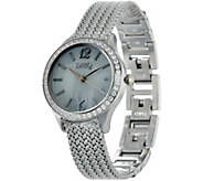 As Is Diamonique Wheat Strap Watch - J350526