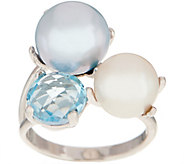 Honora Cultured Pearl & Gemstone Ring, Sterling Silver - J354626