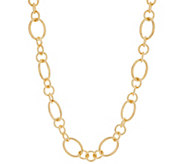 Oro Nuovo 24 Polished Status Link Necklace, 14K - J355726
