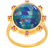 Opal Mosaic Statement Ring, Sterling Silver - J356626
