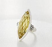 Michael Dawkins Sterling Silver Limon Quartz Marquise Ring, 12.50 cttw - J360526