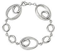 Italian Silver 7-1/2 Oval Link Bracelet, 13.0g - J382726