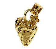 Dazzlers 14K Yellow Gold Strawberry Charm - J105827