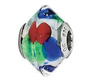 Prerogatives Blue/Green/Red Italian Murano Glass Bead - J300227