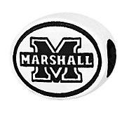 Sterling Silver Marshall University Bead - J300827