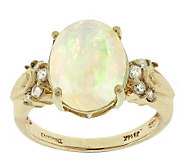 2.00 ct Ethiopian Opal & 1/5 ct tw Diamond Ring, 14K Gold - J305727