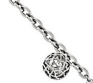 Stainless Steel 8 Heart Cutouts Puffed Circle Bracelet - J306627