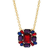 Isaac Mizrahi Live! Crystal Pendant Brooch with 36 Chain - J330527
