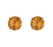 5mm Round Semi-Precious Gemstone Stud Earrings,14K Yellow - J337927