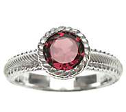 Judith Ripka Sterling 1.00cttw Rhodolite Soliatire Ring - J339827