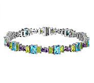 Judith Ripka Sterling 13.85 cttw Multi-Gemstone6-3/4 Bracele - J341827