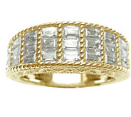 Judith Ripka 14K Clad & Baguette Diamonique Ring - J344627