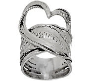Or Paz Sterling Free-form Heart Ring - J350227