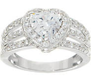 Diamonique Triple Band Halo Ring, Sterling - J351927