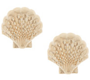14K Gold Summer Motif Stud Earrings - J355627