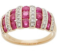 Ruby and Diamond Band Ring, 2.00 cttw, 14K Gold - J357227
